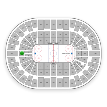 New York Islanders at Nassau Coliseum Section 110 View