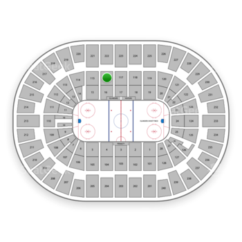 New York Islanders at Nassau Coliseum Section 116 View