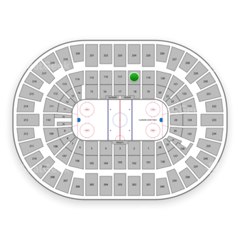 New York Islanders at Nassau Coliseum Section 118 View