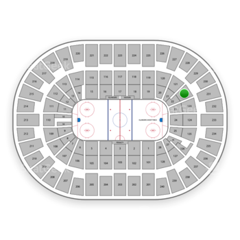 New York Islanders at Nassau Coliseum Section 122 View