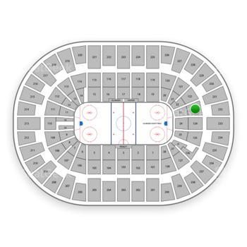 New York Islanders at Nassau Coliseum Section 123 View