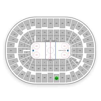 New York Islanders at Nassau Coliseum Section 202 View