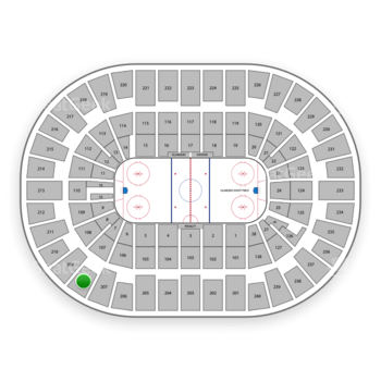 New York Islanders at Nassau Coliseum Section 208 View