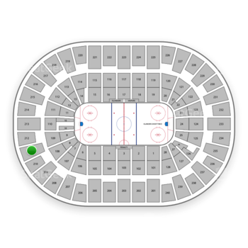 New York Islanders at Nassau Coliseum Section 211 View