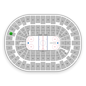 New York Islanders at Nassau Coliseum Section 215 View