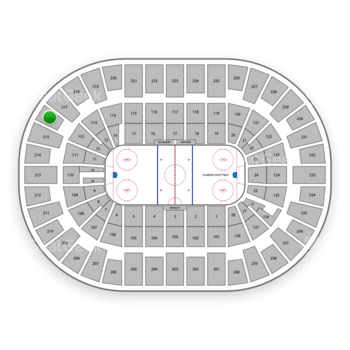 New York Islanders at Nassau Coliseum Section 216 View