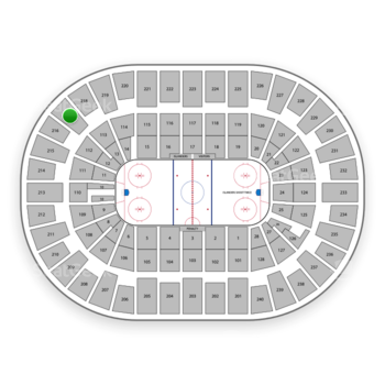 New York Islanders at Nassau Coliseum Section 217 View