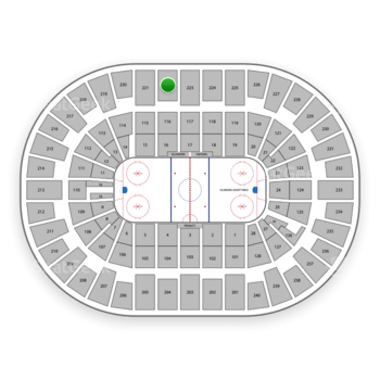 New York Islanders at Nassau Coliseum Section 222 View