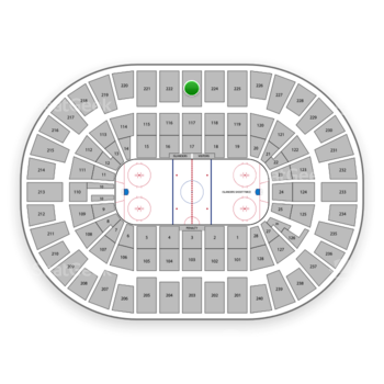 New York Islanders at Nassau Coliseum Section 223 View