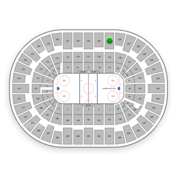 New York Islanders at Nassau Coliseum Section 225 View