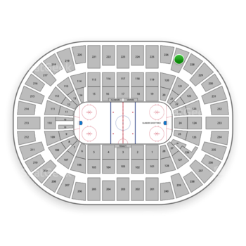 New York Islanders at Nassau Coliseum Section 227 View