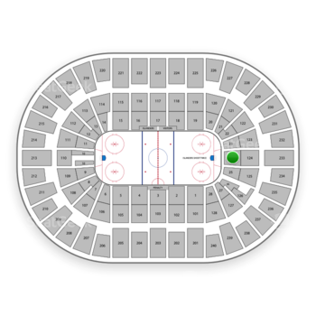 New York Islanders at Nassau Coliseum Section 24 View