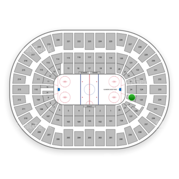 New York Islanders at Nassau Coliseum Section 25 View