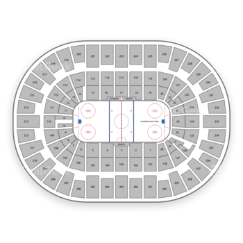 New York Islanders at Nassau Coliseum Section 320 View