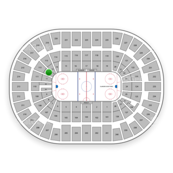 New York Islanders at Nassau Veterans Memorial Coliseum Section 12 View