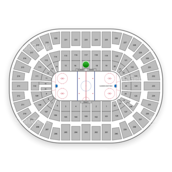 New York Islanders at Nassau Veterans Memorial Coliseum Section 17 View