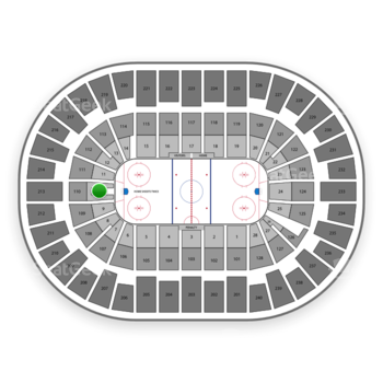 New York Islanders at Nassau Coliseum Section 10 View
