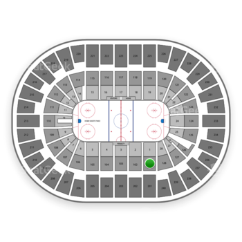 New York Islanders at Nassau Coliseum Section 101 View