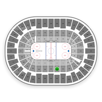 New York Islanders at Nassau Coliseum Section 102 View