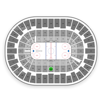 New York Islanders at Nassau Coliseum Section 103 View