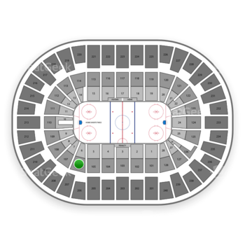 New York Islanders at Nassau Coliseum Section 106 View