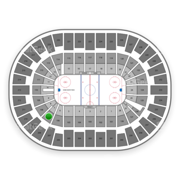 New York Islanders at Nassau Coliseum Section 107 View