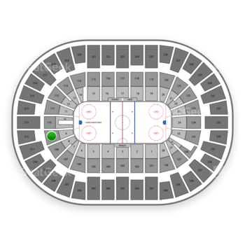 New York Islanders at Nassau Coliseum Section 109 View