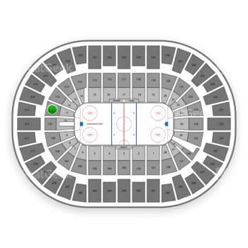New York Islanders at Nassau Coliseum Section 111 View