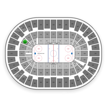 New York Islanders at Nassau Coliseum Section 112 View