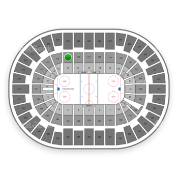 New York Islanders at Nassau Coliseum Section 115 View