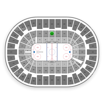 New York Islanders at Nassau Coliseum Section 117 View