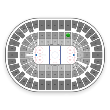 New York Islanders at Nassau Coliseum Section 119 View