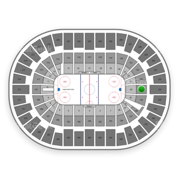 New York Islanders at Nassau Coliseum Section 124 View