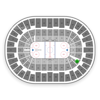 New York Islanders at Nassau Coliseum Section 126 View