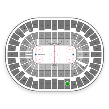 New York Islanders at Nassau Coliseum Section 201 View