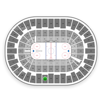 New York Islanders at Nassau Coliseum Section 204 View