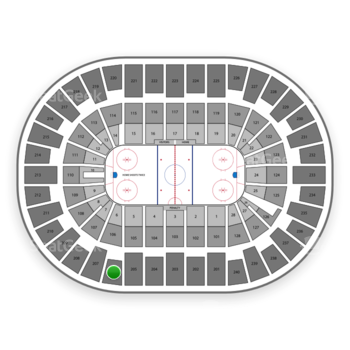 New York Islanders at Nassau Coliseum Section 206 View