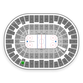 New York Islanders at Nassau Coliseum Section 207 View
