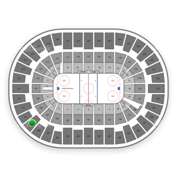 New York Islanders at Nassau Coliseum Section 209 View