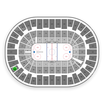 New York Islanders at Nassau Coliseum Section 210 View