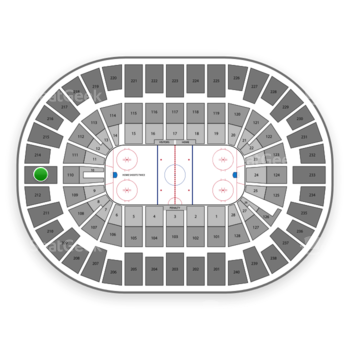 New York Islanders at Nassau Coliseum Section 213 View