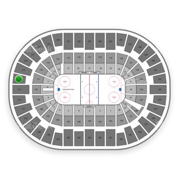 New York Islanders at Nassau Coliseum Section 214 View