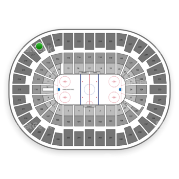 New York Islanders at Nassau Coliseum Section 218 View
