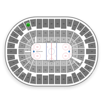 New York Islanders at Nassau Coliseum Section 219 View
