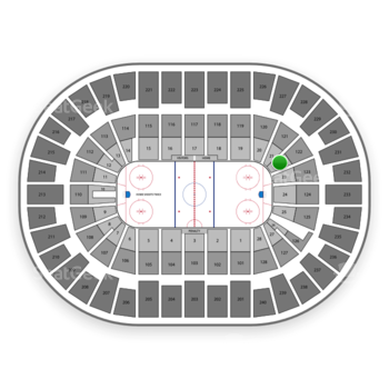 New York Islanders at Nassau Coliseum Section 22 View