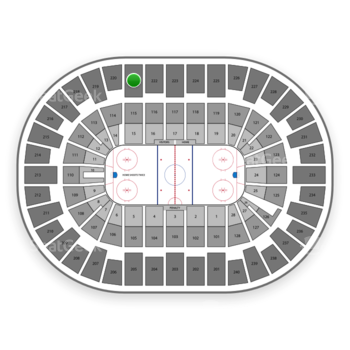 New York Islanders at Nassau Coliseum Section 221 View
