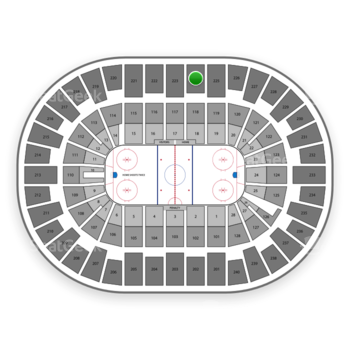 New York Islanders at Nassau Coliseum Section 224 View