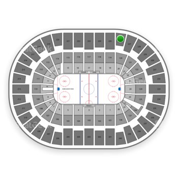 New York Islanders at Nassau Coliseum Section 226 View