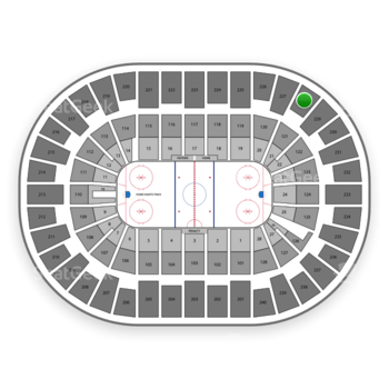 New York Islanders at Nassau Coliseum Section 228 View