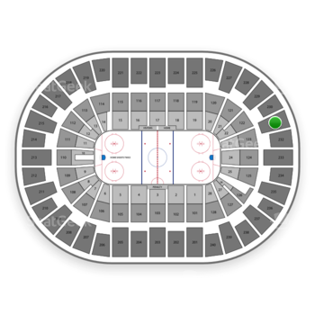 New York Islanders at Nassau Coliseum Section 231 View